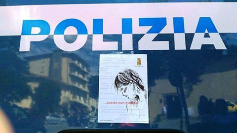 Pippo Inzaghi al flash mob contro la violenza sulle donne