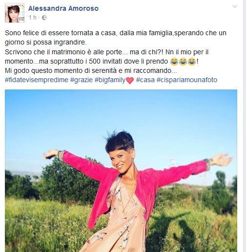 Alessandra Amoroso smentisce tutto: