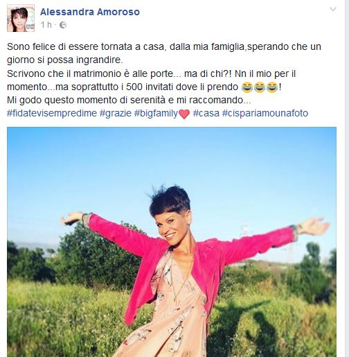 Alessandra Amoroso: niente matrimonio con Stefano Settepani