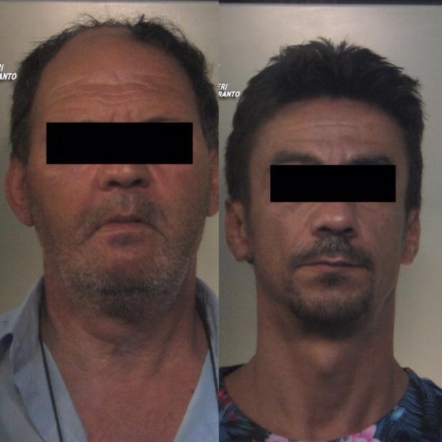 Taranto - Ricatti e minacce fisiche per intascare tangenti: arrestati due pregiudicati