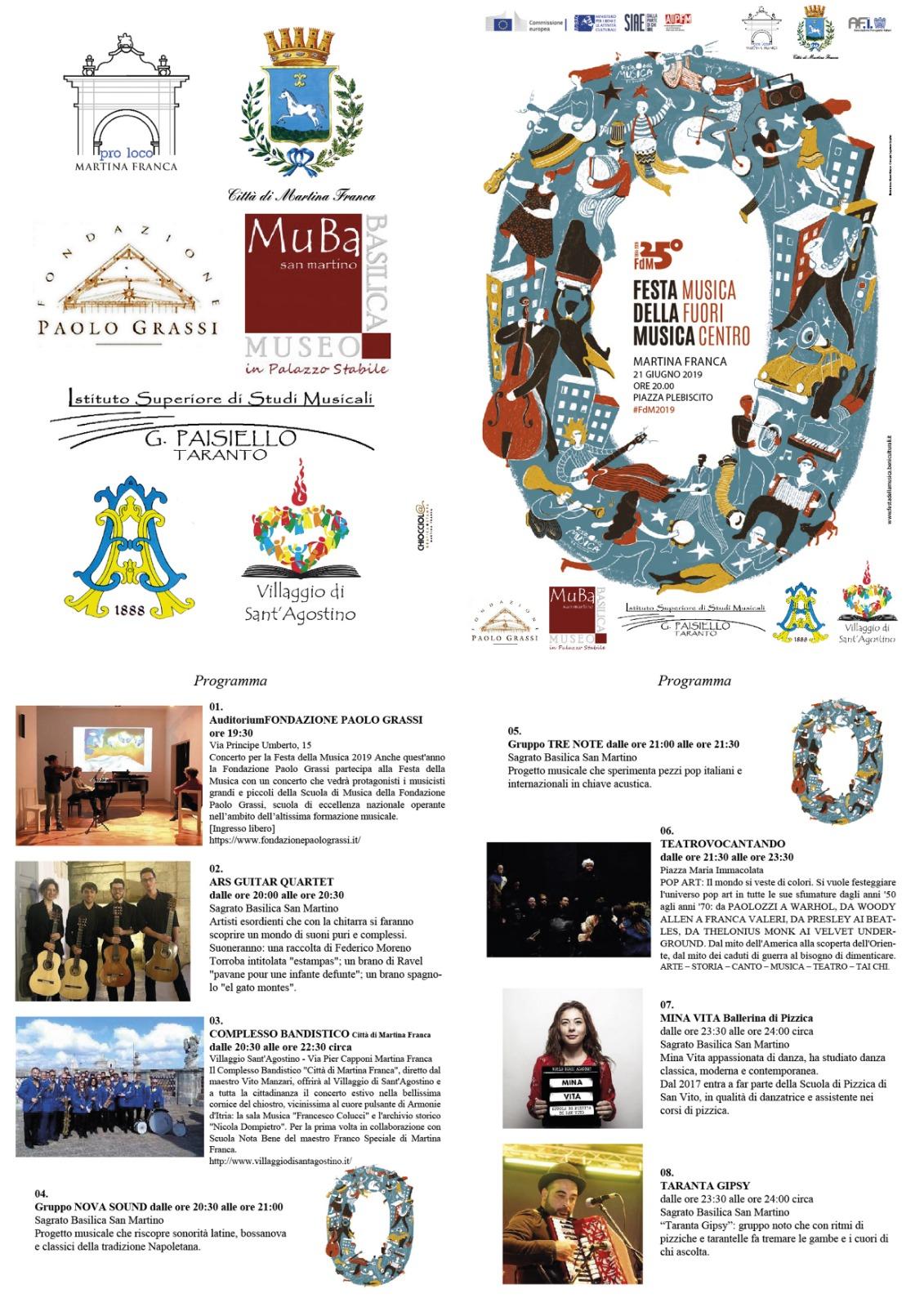 Calendario Eventi Martina Franca.Taranto La Festa Della Musica Sbarca A Martina Franca Gli