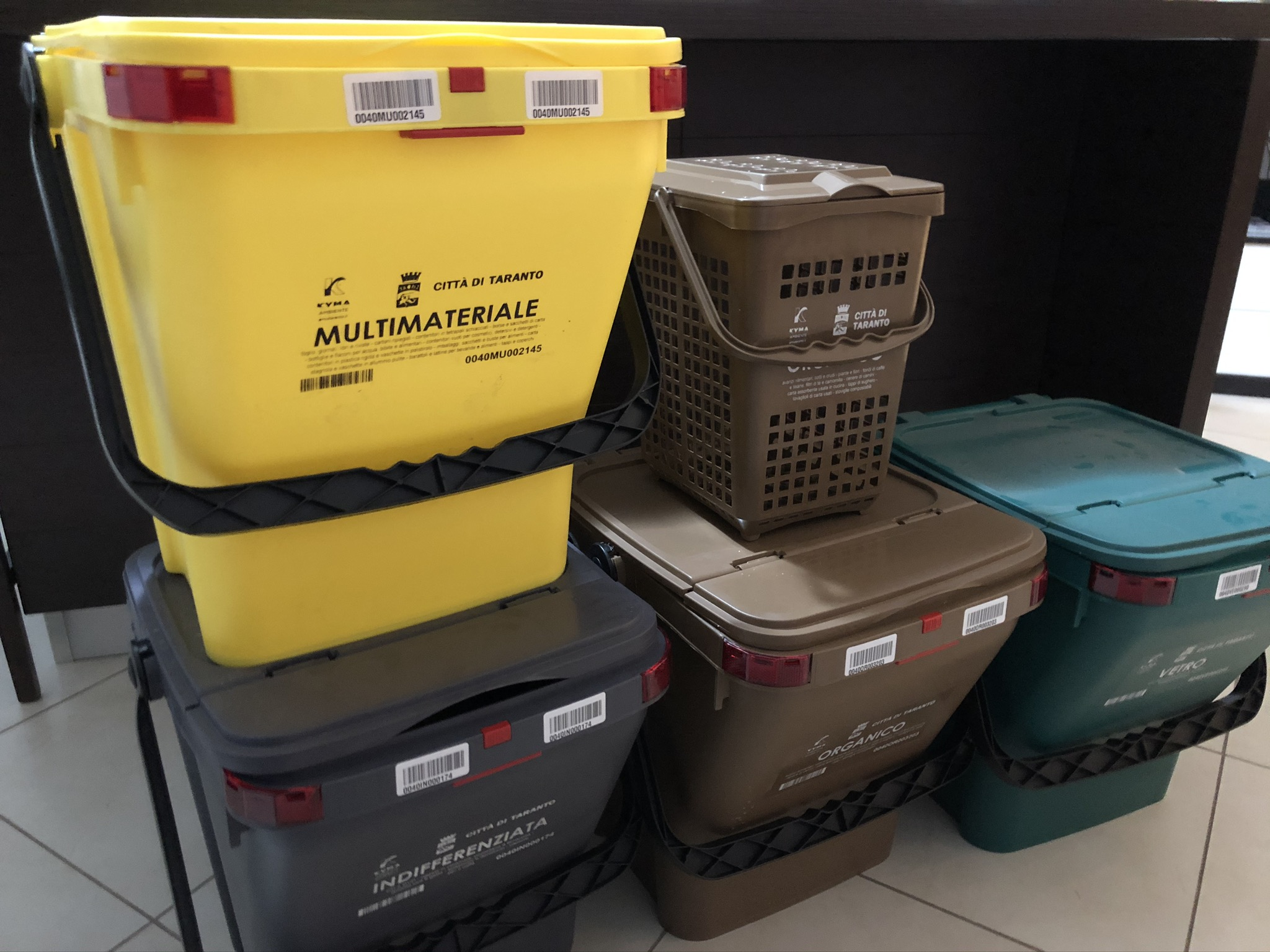 Cestini Raccolta Differenziata Casa taranto – amiu, nuovo servizio di raccolta differenziata nel